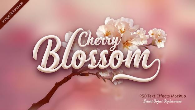 Texte 3d de fleur de cerisier