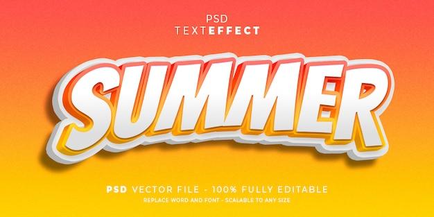 Texte d'été et style d'effet de police