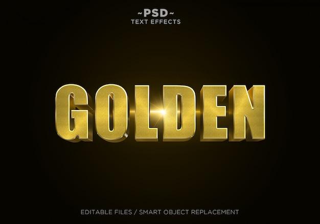 Texte modifiable à effet de paillettes dorées 3d