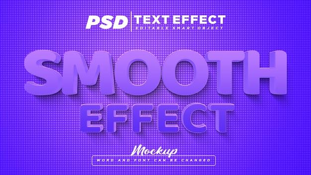 Texte modifiable d'effet de texte lisse