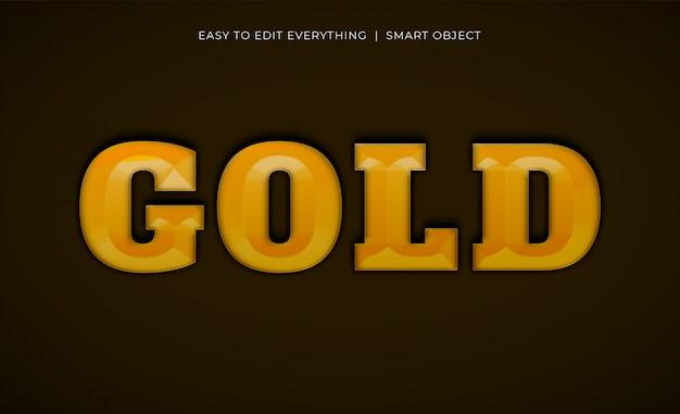 Texte d'or effet de style doré 3d