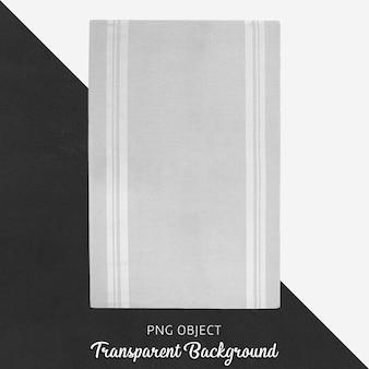Textile gris clair sur fond transparent
