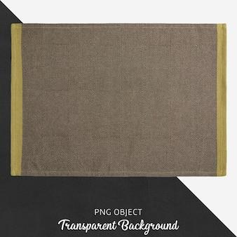 Textile marron sur fond transparent