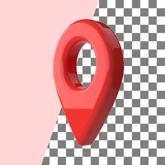 Texture brillante rouge de point d'épingle de carte de rendu 3d