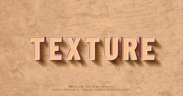 Texture brun 3d texte effet de style psd