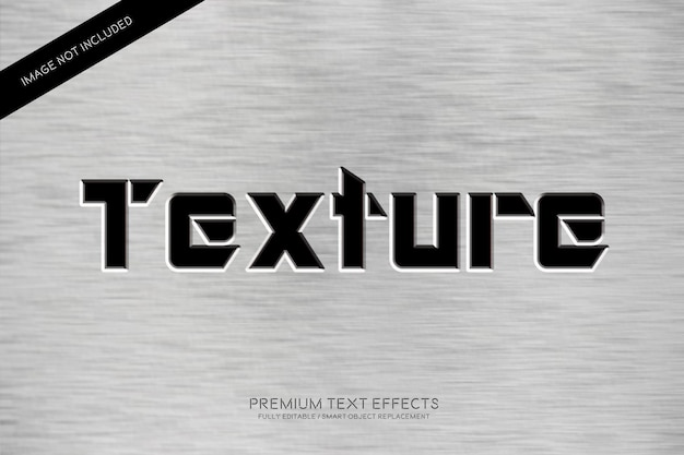 Texture text style effets