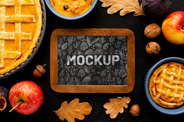 Thanksgiving délicieux arrangement de nourriture