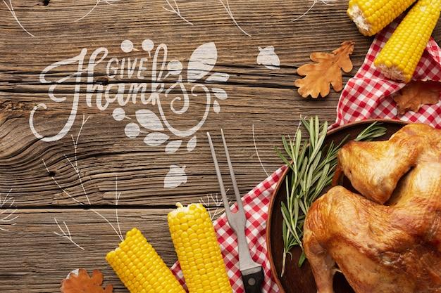 Thanksgiving délicieux plat de dinde