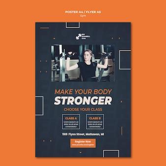 Thème d'affiche de conception de modèle de gym