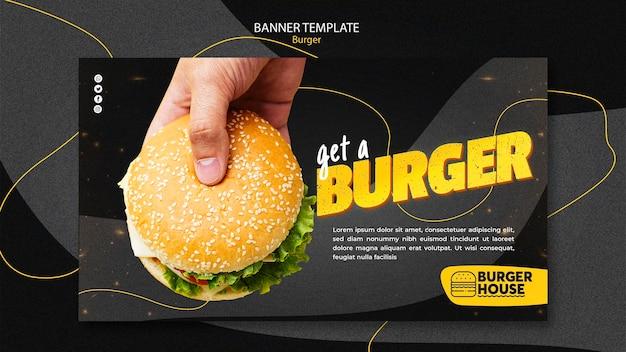 Thème de bannière burger
