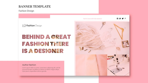 Thème de bannière de conception de mode