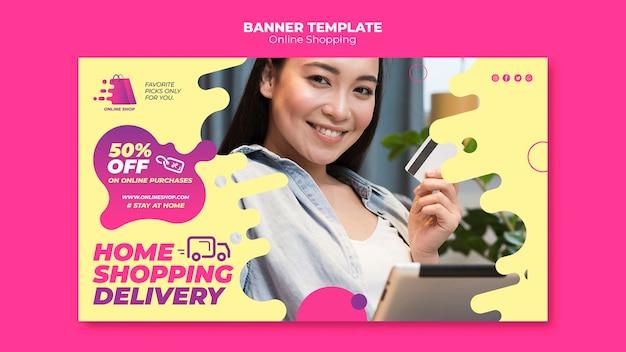 Thème de bannière de magasinage en ligne