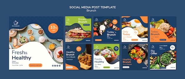 Thème de brunch pour le modèle de publication sur les médias sociaux