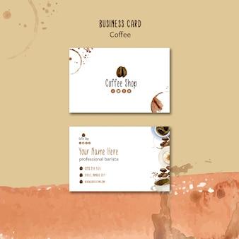 Thème du café pour le modèle de carte de visite