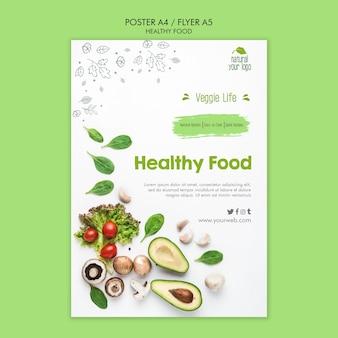 Thème du modèle d'affiche des aliments sains