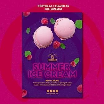 Thème du modèle d'affiche de crème glacée