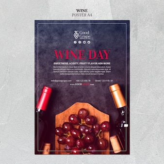 Thème du modèle d'affiche de vin