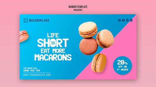 Thème du modèle de bannière de macarons