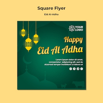 Thème flyer eid al adha