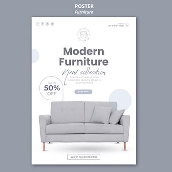 Thème de modèle d'affiche de meubles