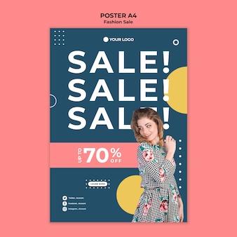 Thème de modèle d'affiche de vente de mode