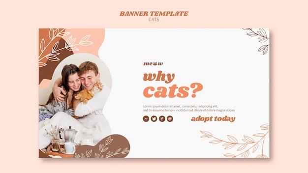 Thème de modèle de bannière de chats