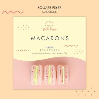 Thème de modèle de flyer de macarons