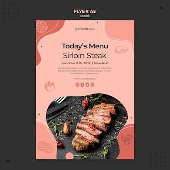 Thème de modèle de flyer steak