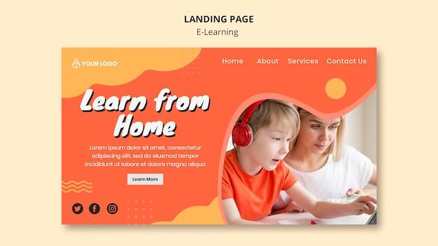 Thème de la page de destination de l'apprentissage en ligne