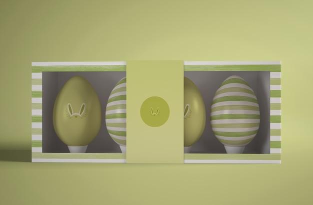 Thème vert pour les oeufs de pâques