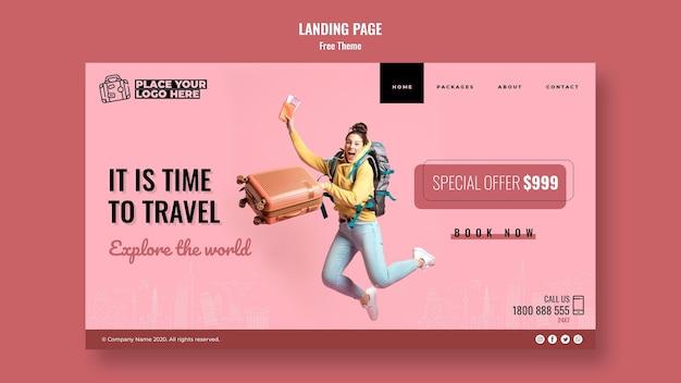Time to travel page de destination