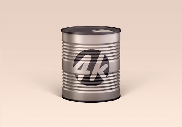 Tin can food mockup