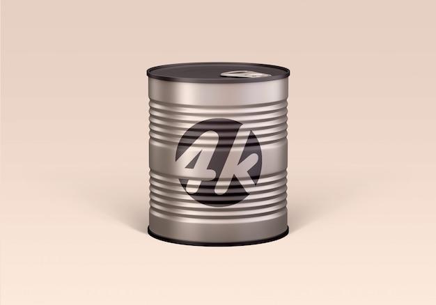 Tin can food mockup