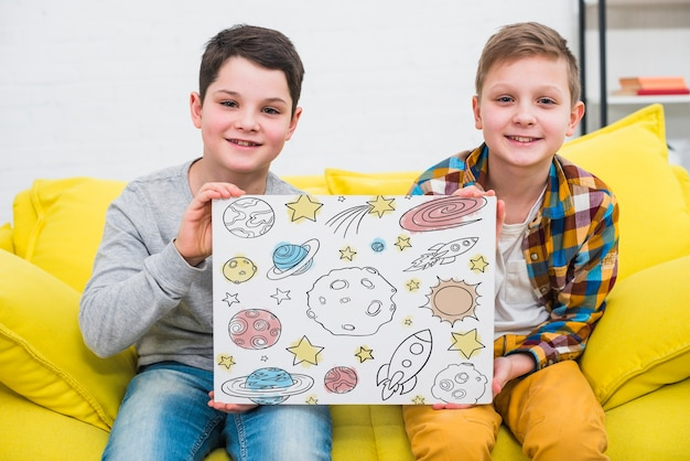 Tir moyen enfants cool avec dessin
