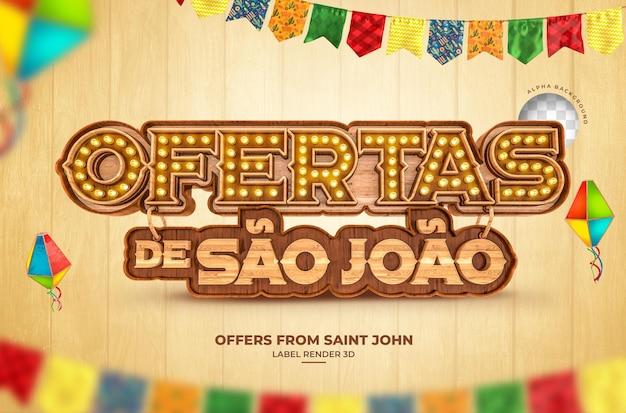 Tirage au sort sao joao 3d render festa junina brazil banner