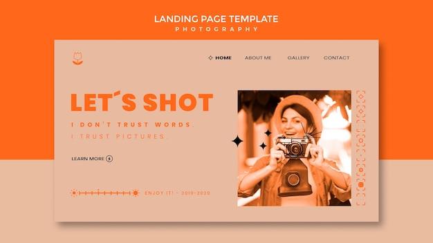 Tirons un modèle de page de destination de photographie