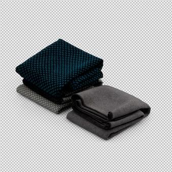 Tissu isométrique rendu 3d isolé