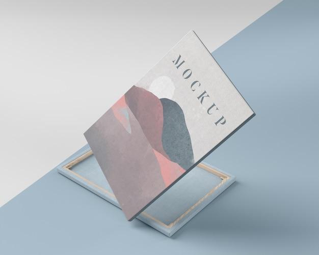 Toile de peinture simulée avec du tissu de lin