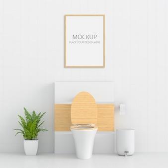 Toilette blanche avec maquette de cadre