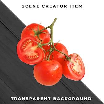 Tomate isolée avec un tracé de détourage.
