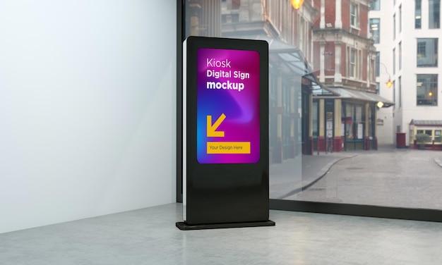 Totem et kiosque maquette de rendu 3d de signalisation numérique