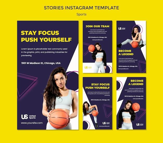 Tournoi de basket-ball instagram stories