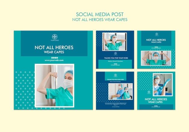 Tous les héros ne portent pas de capes sur les médias sociaux