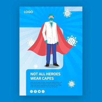 Tous les héros ne portent pas le concept d'affiche de capes