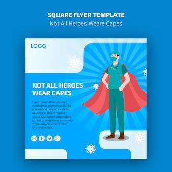 Tous les héros ne portent pas le concept de flyer de capes