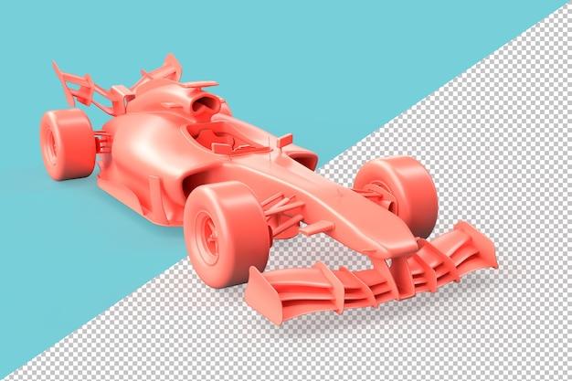 Tracé de détourage de voiture de course rose moderne