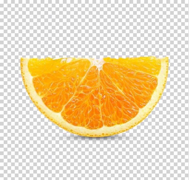 Tranche d'orange fraîche isolée