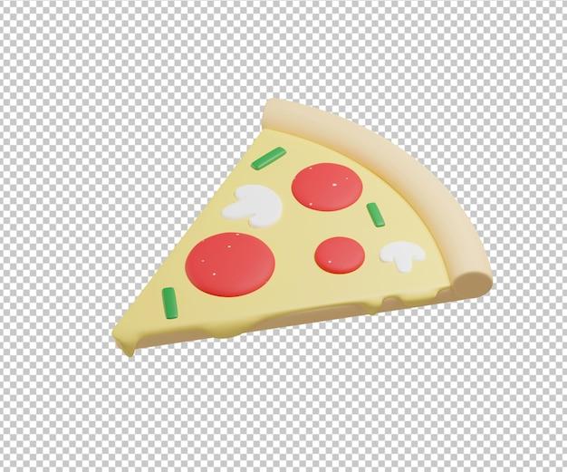 Tranche de pizza illustration 3d