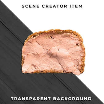 Tranche de sandwich psd transparent