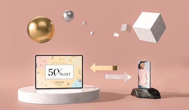 Transfert d'une tablette numérique vers une maquette mobile